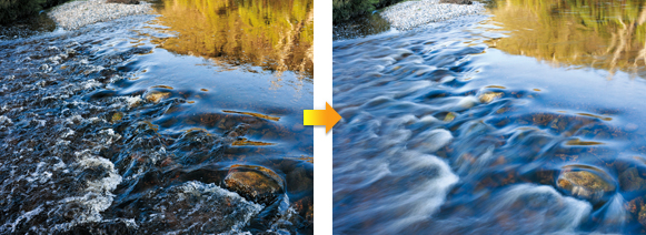 (Left) ND Filter OFF (Right) ND Filter ON